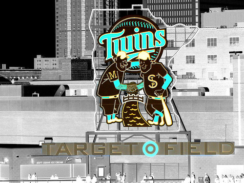 target field. TARGET FIELD — When the Twins
