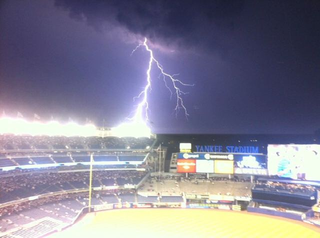God Hates The Yankees, Strikes Yankee Stadium With Lightning