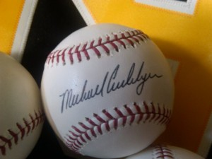And the winner of the autographed Michael Cuddyer Baseball is…..