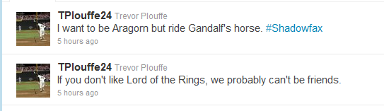 Trevor Plouffe: Ladies Man, Lord of the Rings Fan