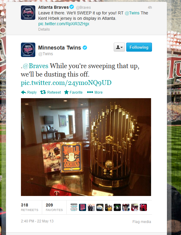 Twins Twitter account hijacked by Packer fan