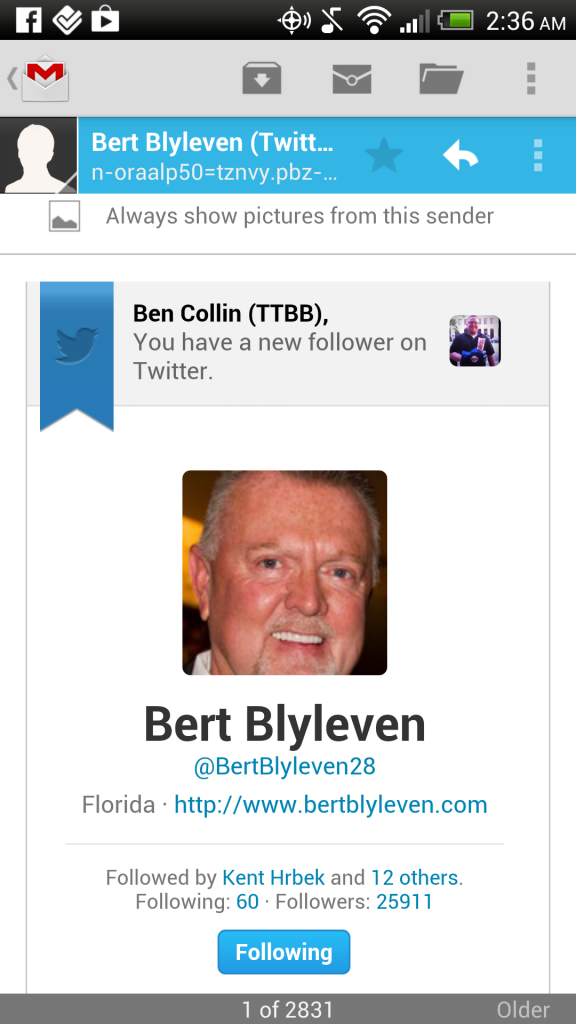 How I turned into the Pete Rose of Bert Blyleven's twitter account