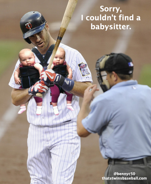 Mauer forced to bring twin girls to work
