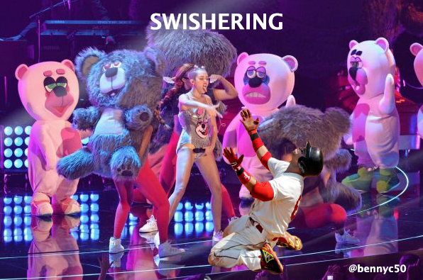 Nick Swisher introduces 'Swishering' at the VMAs